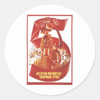 Die kalter Kriegs-Sowjetunions-Propaganda-Plakate  Sticker