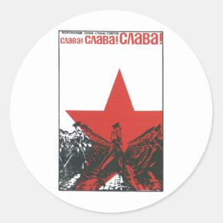 Die kalter Kriegs-Sowjetunions-Propaganda-Plakate Runder Aufkleber