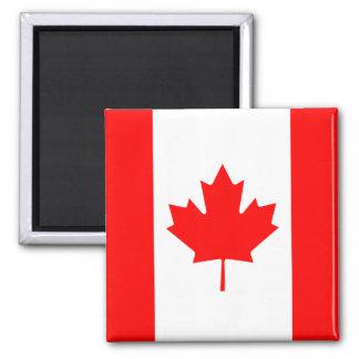 Die kanadische Flagge - Kanada-Andenken Quadratischer Magnet