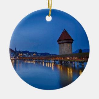 Die Kapellen-Brücke in der Luzerne Keramik Ornament