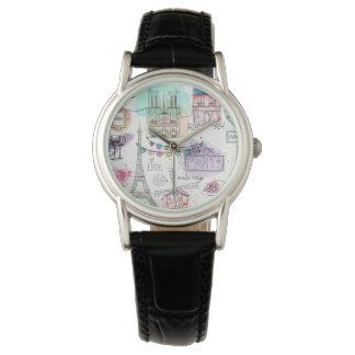Die klassische Uhr/das Paris der Frauen Uhr