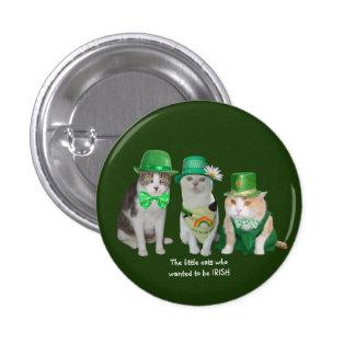 Die kleinen Katzen, die wollten, um irisch zu sein Runder Button 2,5 Cm