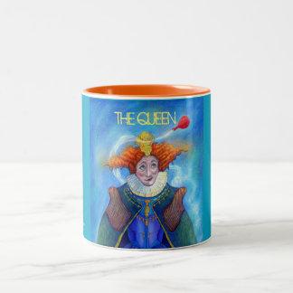 Die Königin-Tasse durch Mike Winterbauer Zweifarbige Tasse