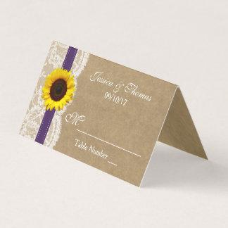Die Kraftpapier-, Spitze-u. Sonnenblume-Sammlung - Platzkarte