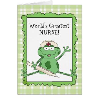 Die Krankenschwester-Anmerkungskarte der Welt Mitteilungskarte