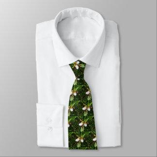 Die Krawatte der Frauenschuh Orchideen-Männer