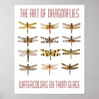 Die Kunst der Libellen Poster