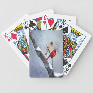 """Die Kunst """"des Winter-Kardinals"""" durch Anne Poker Karten"""