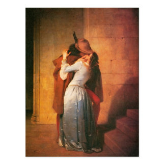 Die Kuss-Postkarte durch Francesco Hayez Postkarte