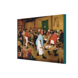 Die ländliche Hochzeit durch Pieter Bruegel das Leinwanddruck