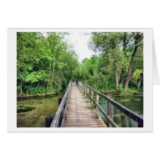 Die lange Brücke Grußkarte