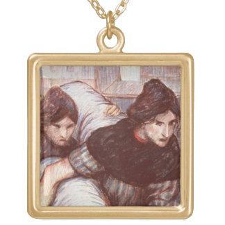 Die Laundresses, 1898 (Pastell auf Leinwand) Halskette Mit Quadratischem Anhänger