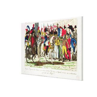 Die Leute von Paris Napoleon anerkennend Gespannte Galeriedrucke