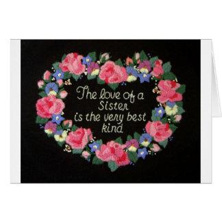 Die Liebe einer Schwester Karte