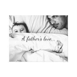 Die Liebe eines Vaters Leinwand Drucke