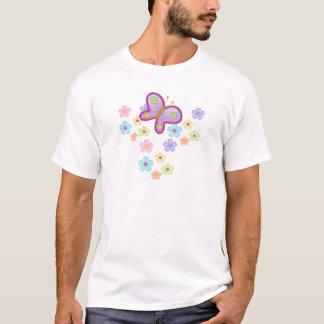 Die Mädchen-Schmetterlings-Blumen des T - T-Shirt