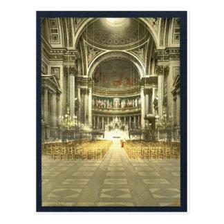 Die Madeleine, Innenraum, Paris, Frankreich Postkarte