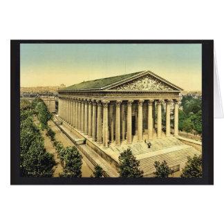 Die Madeleine, Klassiker Photochrom Paris, Grußkarte
