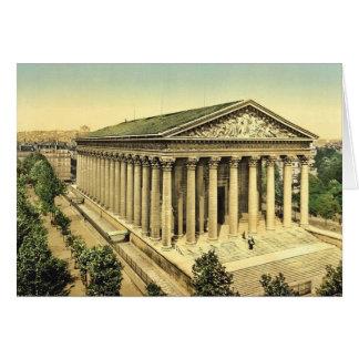 Die Madeleine, Klassiker Photochrom Paris, Grußkarten