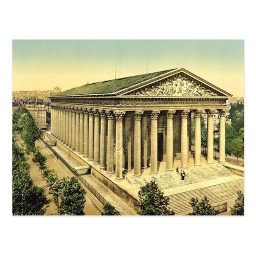 Die Madeleine, Klassiker Photochrom Paris, Postkarte