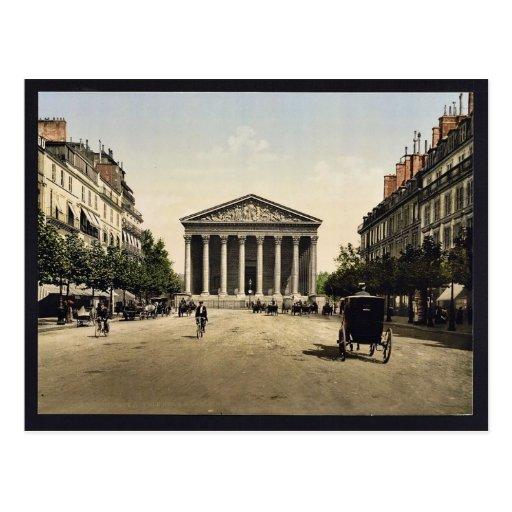 Die Madeleine und Rue Royale, Paris, Frankreich Postkarte