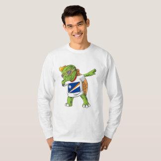 Die Marshallinseln, die Schildkröte betupfen T-Shirt