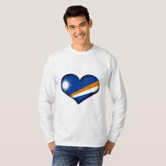 Die Marshallinseln-Herz-Flagge T-Shirt