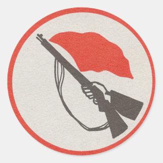 Die Miliz-Logo der Ostdeutschen Arbeitskräfte Runder Aufkleber