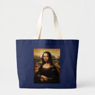 Die Mona Lisa durch Leonardo da Vinci Jumbo Stoffbeutel