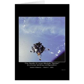 """Die Mondfähre """"Spinne"""" Apollo 9 am 7. März 1969 Karte"""