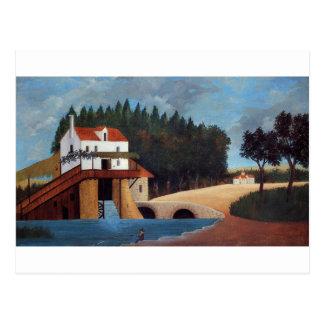 Die Mühle durch Henri Rousseau Postkarte