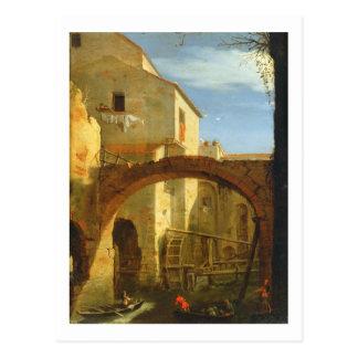 Die Mühle (Öl auf Leinwand) Postkarte