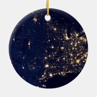 Die NASA-Lichter vom Raum USA Keramik Ornament