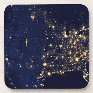 Die NASA-Lichter vom Raum USA Untersetzer