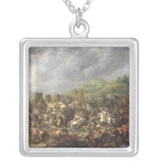 Die Niederlage von Porus durch Alexander der Große Halskette Mit Quadratischem Anhänger