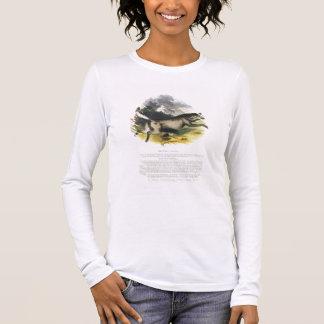Die pädagogische Illustrations-PU des Wolfs (Canis Langarm T-Shirt