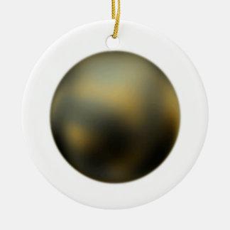 Die Planeten-Pluto-Verzierung Rundes Keramik Ornament