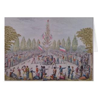 Die Plantage eines Freiheits-Baums Karte