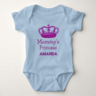 Die Prinzessin der Mama mit rosa Krone V24B12 Babybody