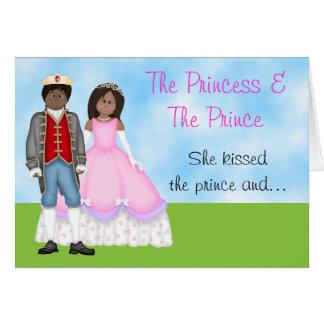 Die Prinzessin-, Prinz-und Karte