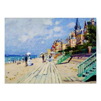 Die Promenade bei Trouville Claude Monet Karte