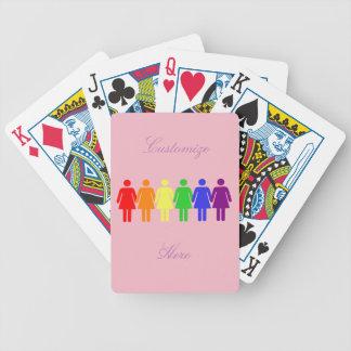 die Rechte der Frauen 2017 LGBTQIA Thunder_Cove Bicycle Spielkarten