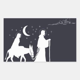 Die Reise nach Bethlehem Rechteckiger Aufkleber