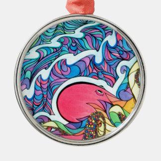 Die reisende Krake Silbernes Ornament