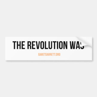 Die Revolution war Aufkleber Autoaufkleber