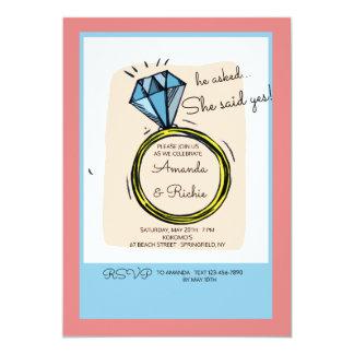Die Ring-Verlobungs-Party Einladung