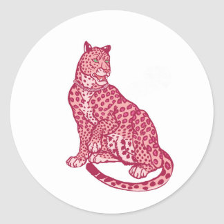 Die rosa Panther Runder Aufkleber