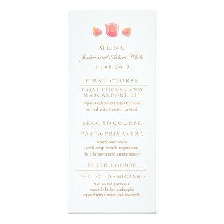 Die rosa Tulpe-Hochzeits-Menü-Karte Karte