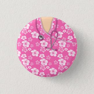 Die rosa und weißen medizinischen runder button 3,2 cm