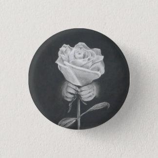 Die Rose, die vom konkreten Knopf wuchs Runder Button 2,5 Cm
